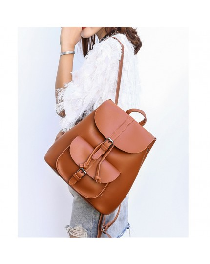 Women Anti-theft PU leather Backpack