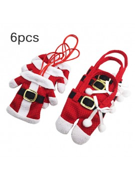 Santa Pockets For Dinner Knife Fork