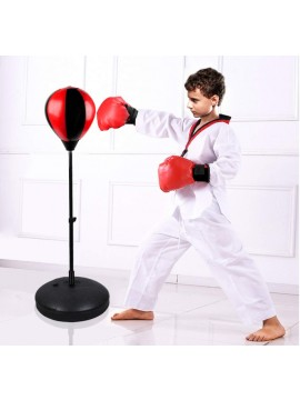 Boxing ball and glove combination