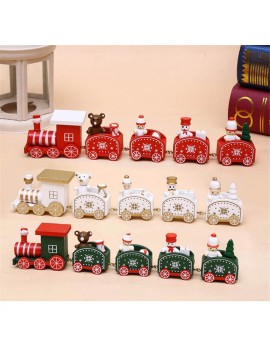 Christmas Wooded Train Ornament Toy