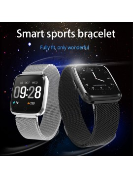 Y7 Smartwatch With Milanese Steel