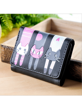 Cartoon cat cute lady wallet