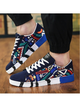 Flat Lace Up Canvas Shoes