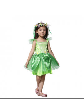 Kids Fairy Costume Fancy Dress With Floral Headwear