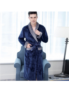 Warm Mens Long Sleeves Nightgown
