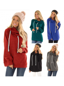 Pure Colour Long Sleeved Hoodies