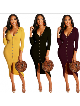 Ladies Winter Fashion Long Tight Sweater Dress