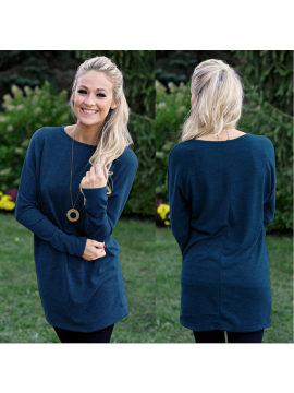Long sleeved solid color sweater