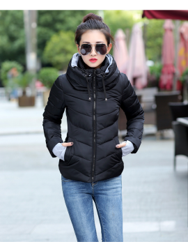 casual winter hooded coats for woman jacket
