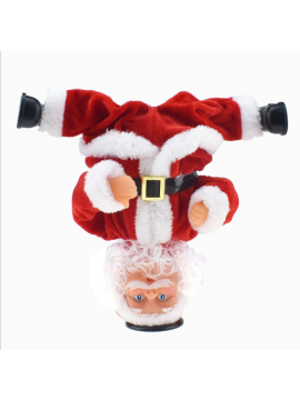 xmas  Singing Inverted  Dance Electric Musical Toy Santa Claus Doll