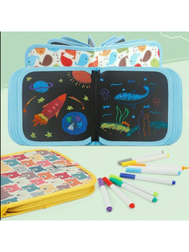 Portable Soft Doodle Erasable Drawing Animal Coloring Book DIY Painting Board