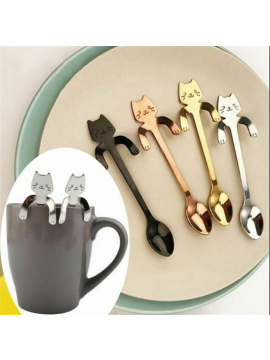 Small Stainless Steel Cat Tea Spoon