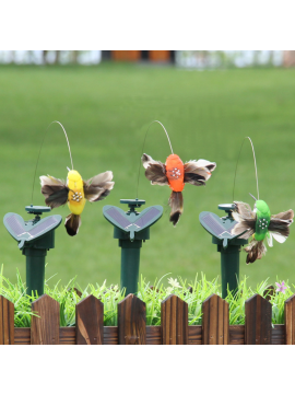 New decoration solar powered  electric hummingbird and Butterfly