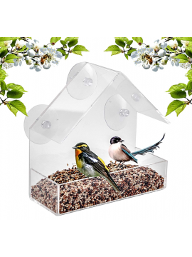Window Bird Feeder with Suction