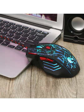 Colorful glowing gaming mouse
