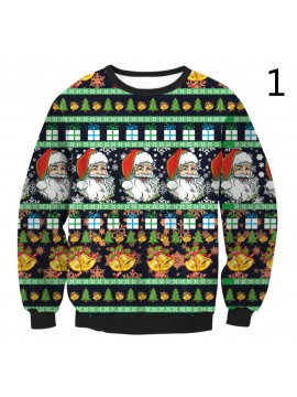 Printed Christmas Sweater Clothes