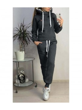 Women Casual Hooded Tracksuit Set