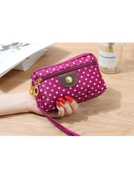 Dot Printing Canvas Hand Bag