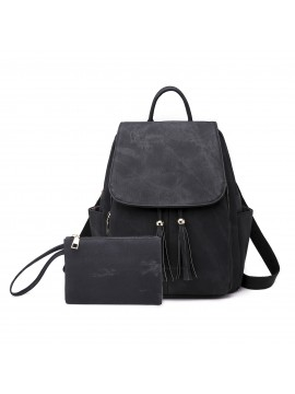 PU Leather Backpack Bag 2pcs/set
