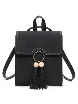 Women Tassel PU leather Backpack