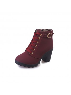 Women High Heel Ankle Boots