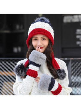 Women Winter Crochet Knitted Hat
